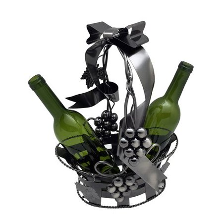Wine Bodies Basket Holding 2 Bottle Tabletop Wine Rack