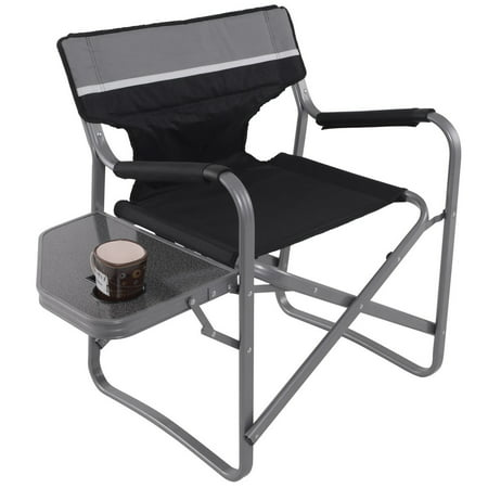 Gymax Folding Director Chair W/Side Table Cup Holder ()