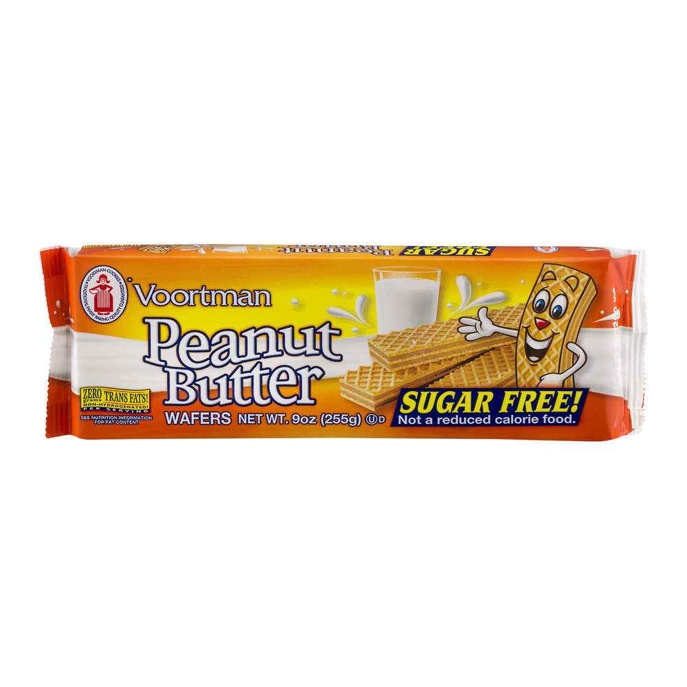 Voortman Peanut Butter Wafers Sugar Free, 9.0 OZ