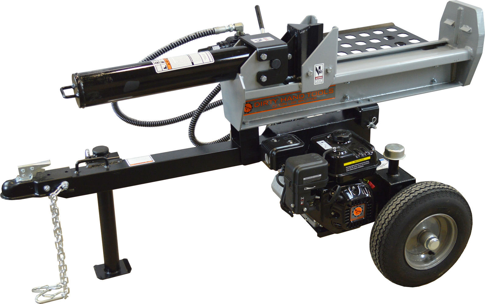 Dirty Hand Tools 22 Ton Half-Beam Horizontal Vertical Log Splitter, Loncin Engine by Frictionless World, LLC