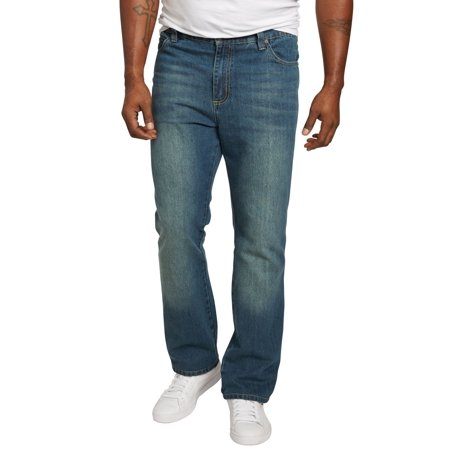 Relaxed Tapered (Liberty Blues Men's Big & Tall Relaxed Tapered Fit Side Elastic 5-pocket Jeans )