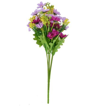artificial chrysanthemum flower bouquet wedding home garden decoration purple. Black Bedroom Furniture Sets. Home Design Ideas