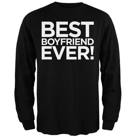 Valentine's Day - Best Boyfriend Ever Black Adult Long Sleeve