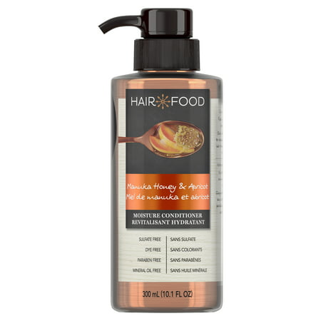 Hair Food Manuka Honey & Apricot Sulfate Free Conditioner, 300 mL, Dye Free Moisturizing