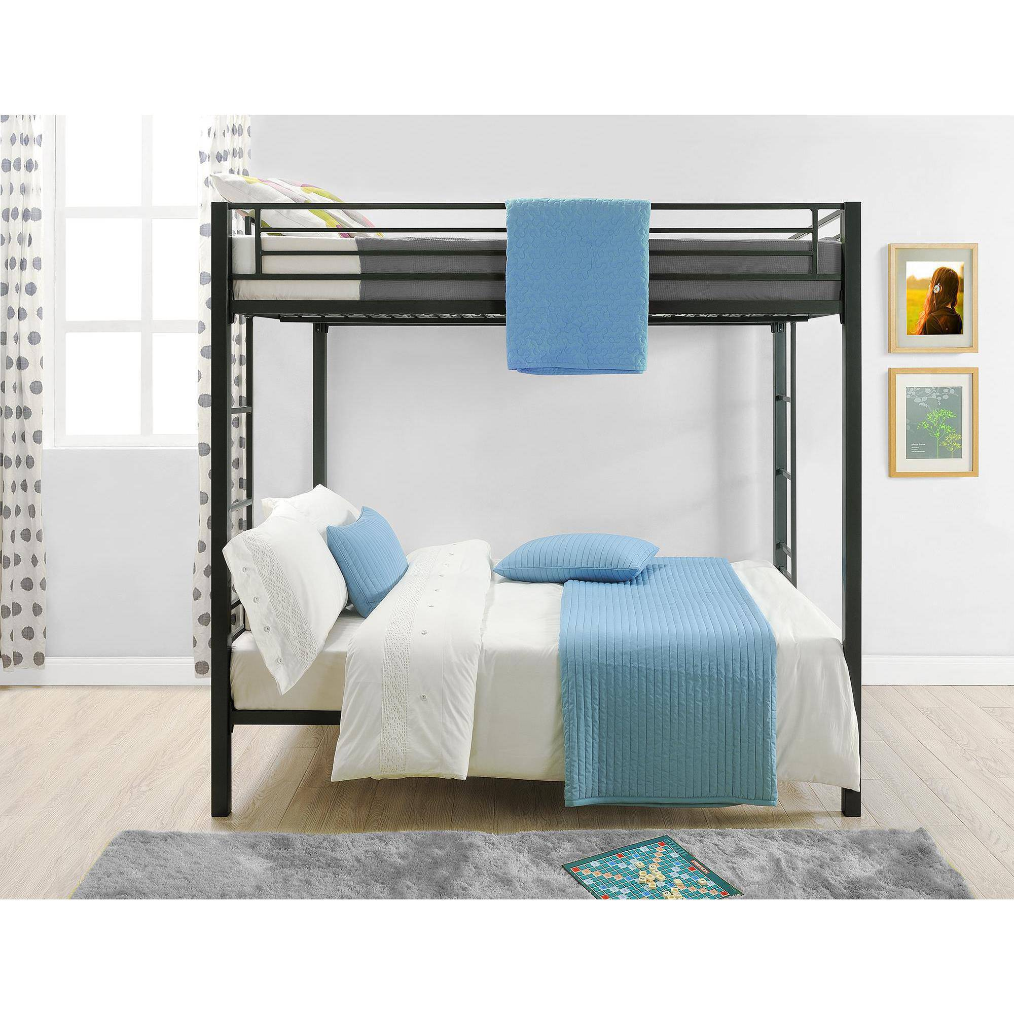 Attractive Full Over Full Bed Part - 11: Dorel Full-Over-Full Metal Bunk Bed, Multiple Finishes With 2 Mainstays  Mattresses - Walmart.com