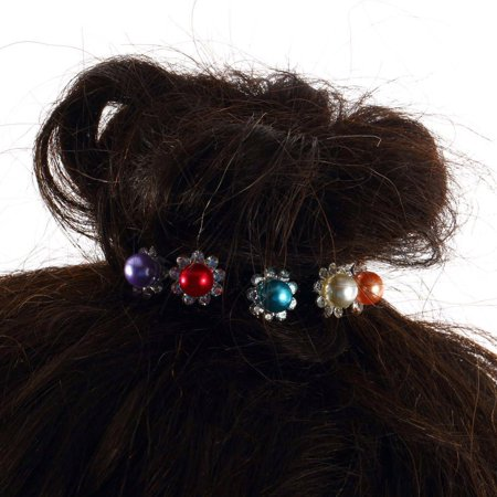 OUTAD 1 pcs Simulated-Pearl Crystal Flowers Hair Clip Hairpin Jewelry Acessories - image 2 of 13
