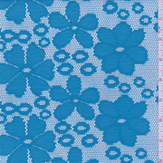 Aqua Blue Floral Crochet Lace, Fabric By the Yard