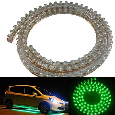 Ediors 28Inch Led Light Strip Under Car underglow Lights Underbody System Neon Light Kit (Underbody Led Kits)