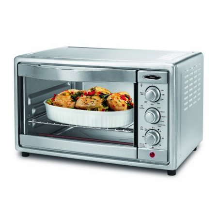 Oster 6 Slice Convection Toaster Oven Brushed Stainless