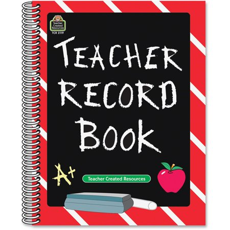 Teacher Created Resources, TCR2119, Chalkboard Teacher Record Book, 1 Each