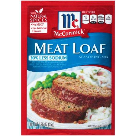 Mccormick Meat Loaf Seasoning Mix  1 25 Oz