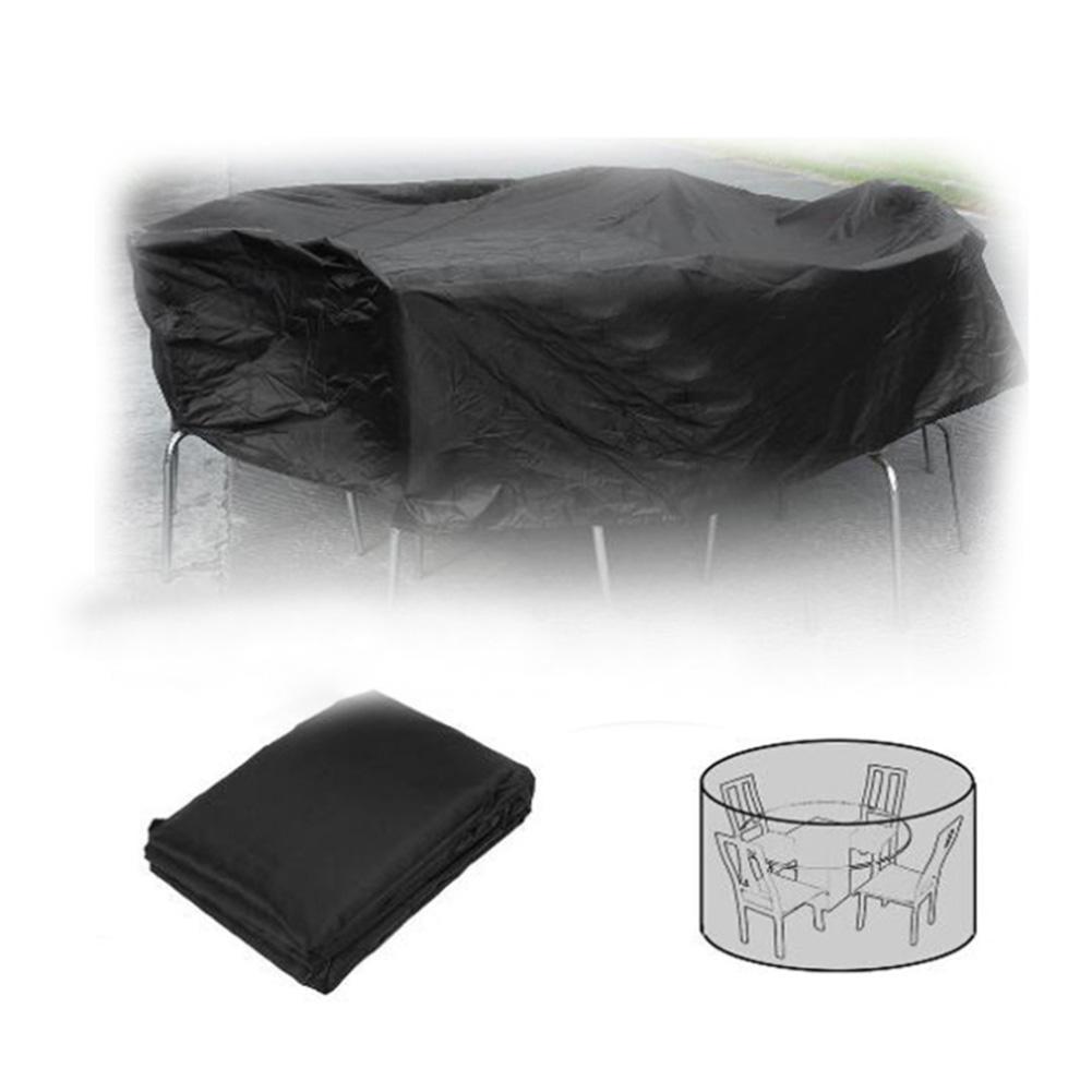 Oxbridge Black Large Oval Waterproof Outdoor Garden Patio Set Furniture Cover