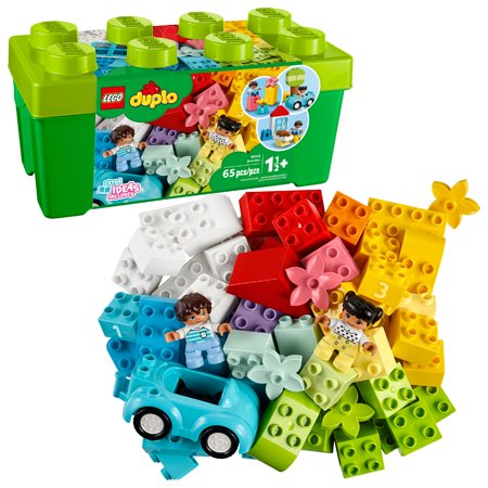 LEGO DUPLO Classic Brick Box 10913, Great Educational Toy for Toddlers 18 Months and up (65 Pieces) Lego Duplo Basic Bricks