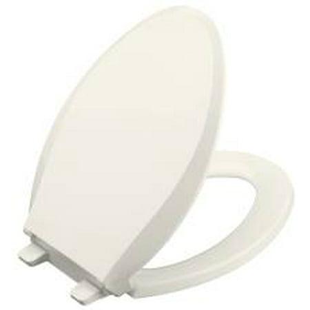 Kohler Cachet Quiet Close Elongated Toilet Seat With Lid  Biscuit