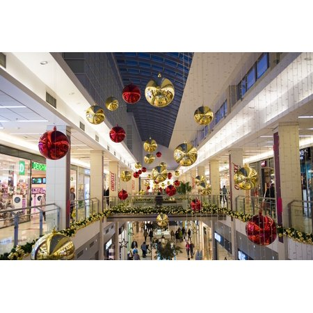 Canvas Print Decoration Christmas Shopping Mall Shop Center Stretched Canvas 10 x 14 - Walmart.com