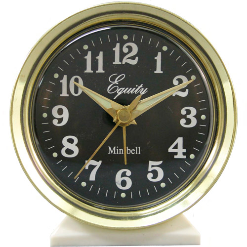 Equity by La Crosse Analog Wind-Up Bell Alarm Clock, Gold