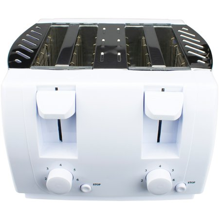 Brentwood Appliances TS-265 Cool Touch 4-Slice Toaster (White) (26.5 Oven)