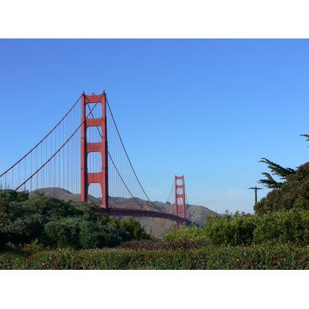 Laminated Poster Red Bridge Golden Gate San Francisco 24x16 Adhesive Decal