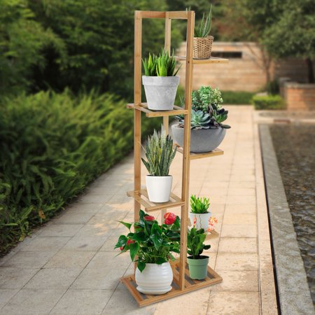 Herwey Wood Plant Stand Solid Flowers Plant Rack Shelves Display Shelf - image 2 of 8