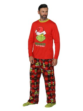 """Dr. Seuss """"The Grinch"""" Matching Family Pajama Sets, Men, Size: Small"""