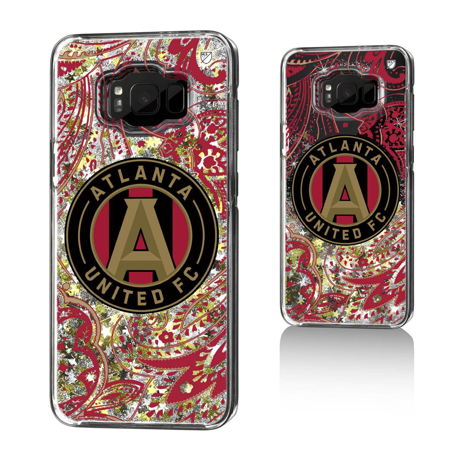 Atlanta United FC ATLUTD Paisley Glitter Case for Galaxy 8+