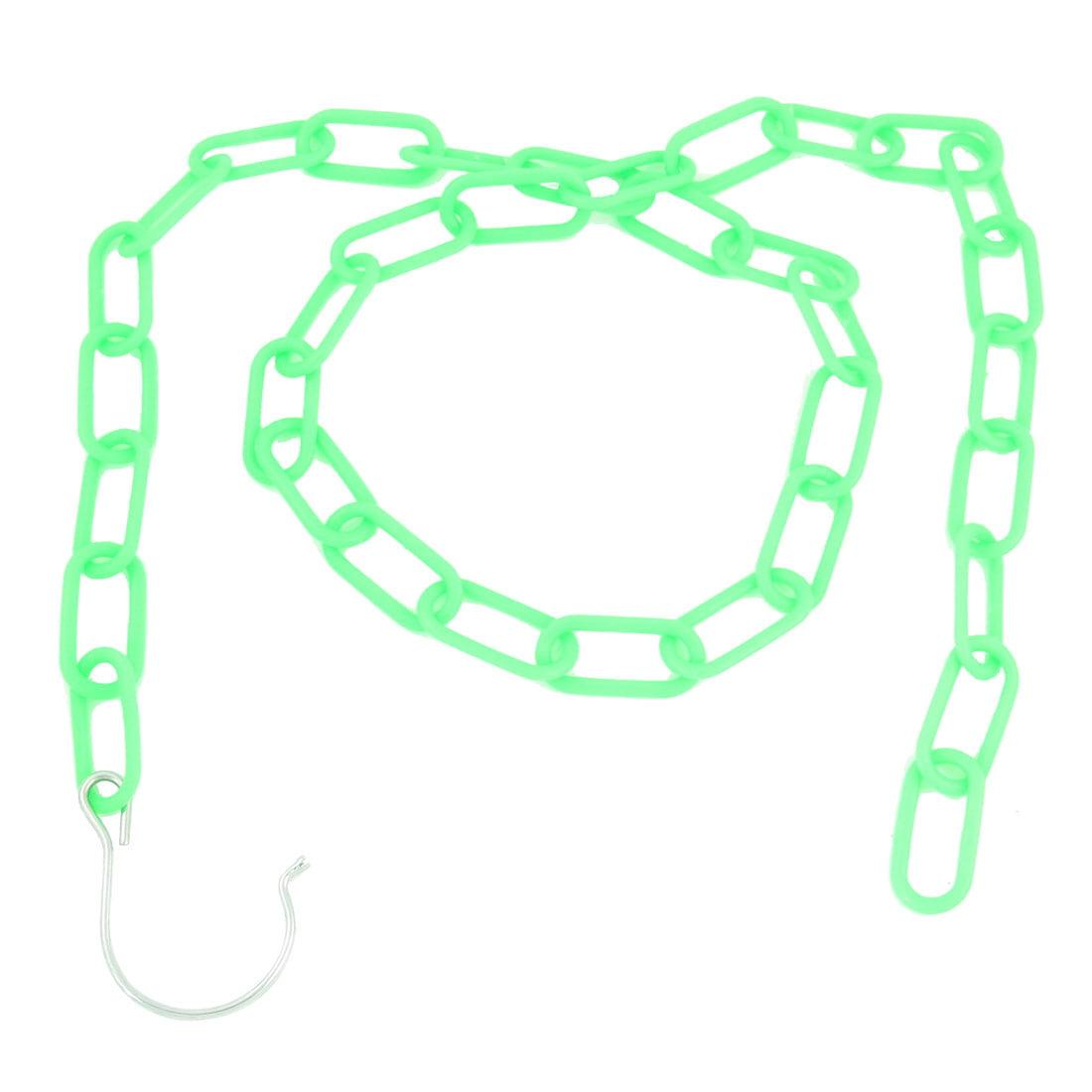 Unique Bargains 4.6ft Green Plastic Chain Link Clothes Bag Display Hanger