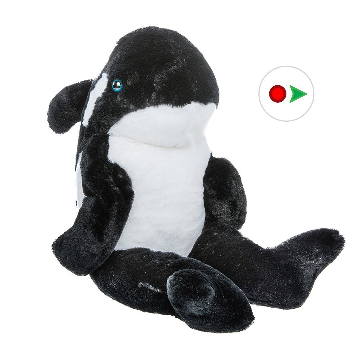 Record Your Own Plush 16 inch Black Orca Whale Ready To Love In A Few Easy Steps by Bear Factory