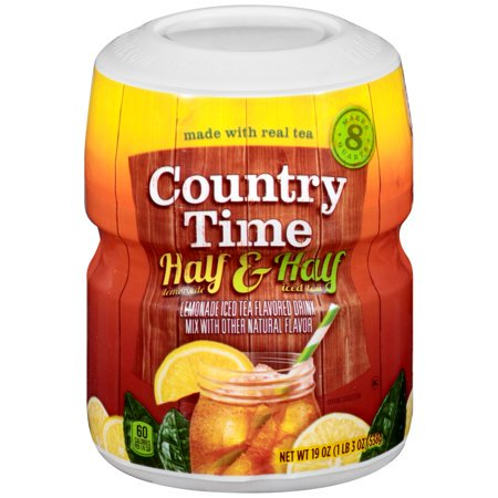 (6 Pack) Country Time Half Lemonade & Half Iced Tea Drink Mix, 19 oz