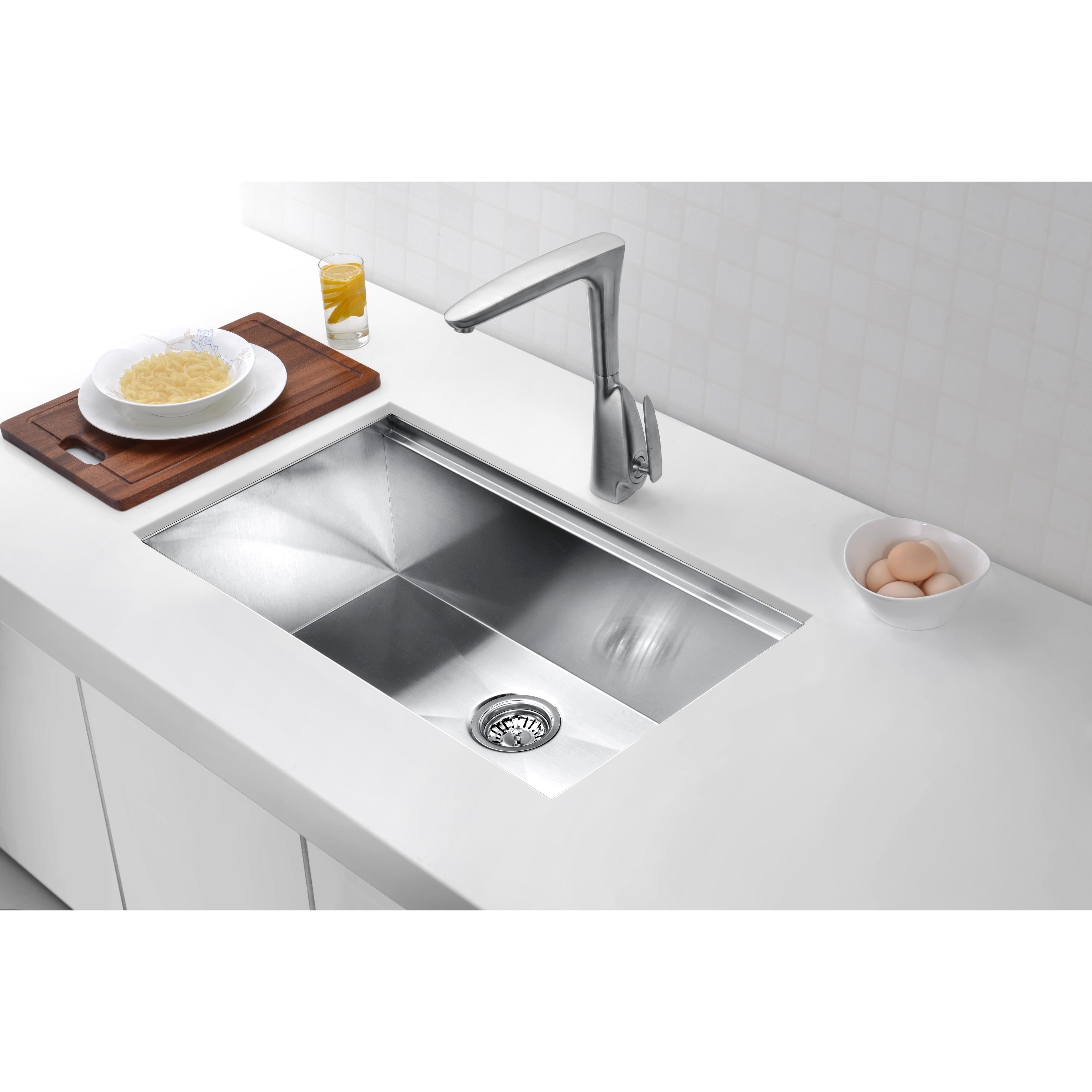 Anzzi Aegis 30 L X 18 W Undermount Kitchen Sink With