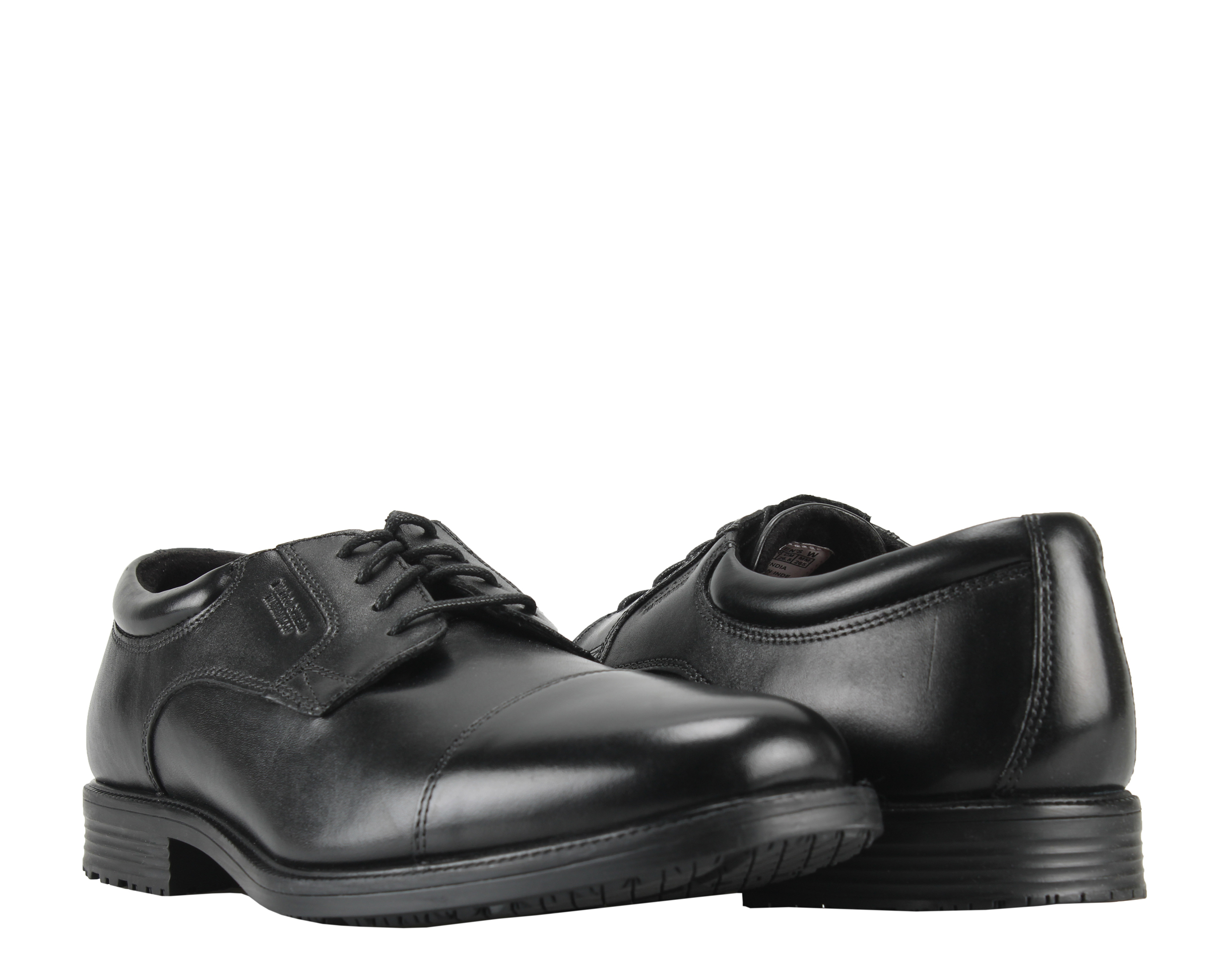 Rockport Essential Details Waterproof Cap Toe Black Men's Dress Shoes V73839 by