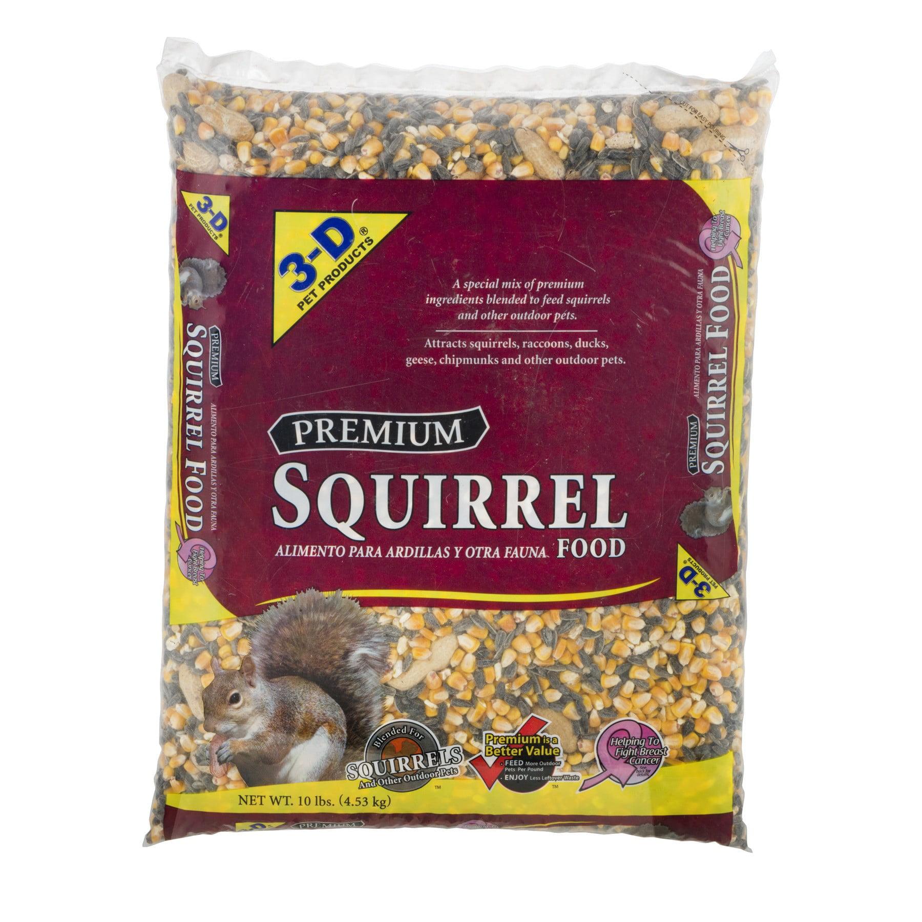 3-D Pet Products Premium Squirrel Food Dry Squirrel Food, 10 LB by D & D Commodities Ltd.