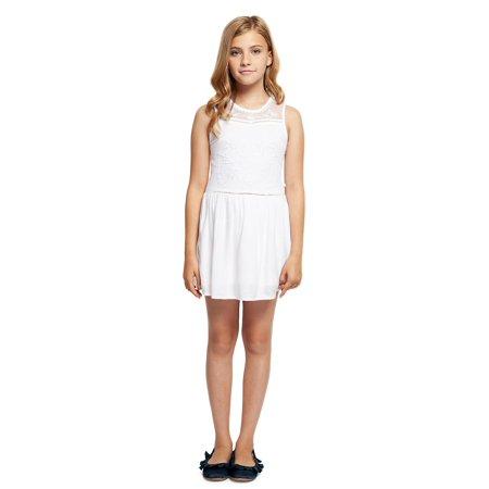 Girl's Sleeveless Lace Dress