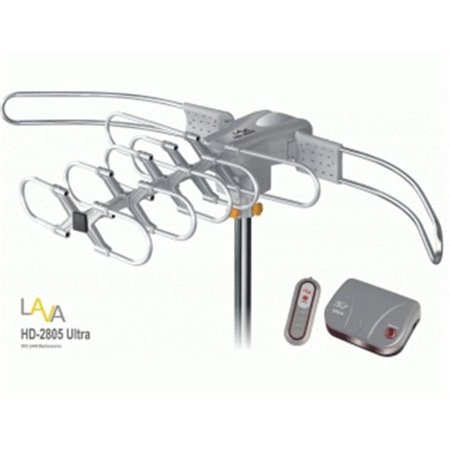 LAVA HD-2805 ULTRA UHF – VHF Outdoor HDTV Antenna with Motor Rotor