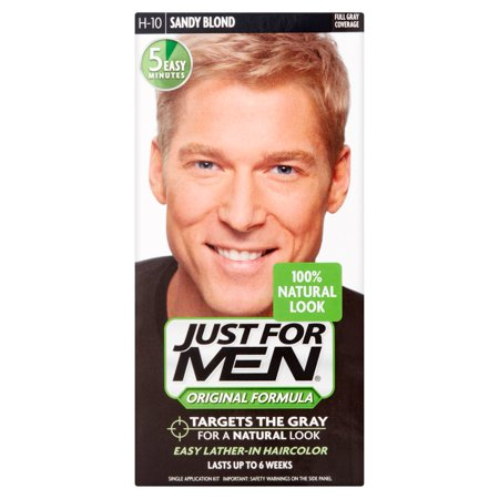 Just For Men Hair Color Shampoo, Sandy Blond, 1 ct - Walmart.com