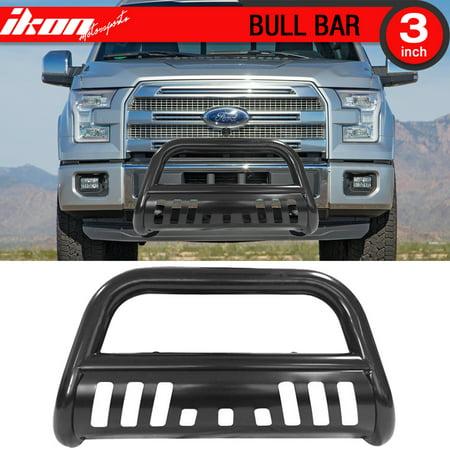 Ikon Motorsports Bull Bar Grille Guard - Fits 04-18 Ford F150 Black Ford F150 Bull Bar