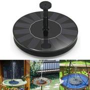 Juslike Solar Bird Bath Fountain Pump, 1.4W Solar Fountain Water Pumps Panel Kit Outdoor Birdbath Watering Submersible Pump for Garden and Patio