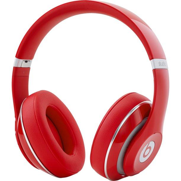 Beats By Dr Dre Studio Wired Over Ear Headphones Red Walmart Com Walmart Com