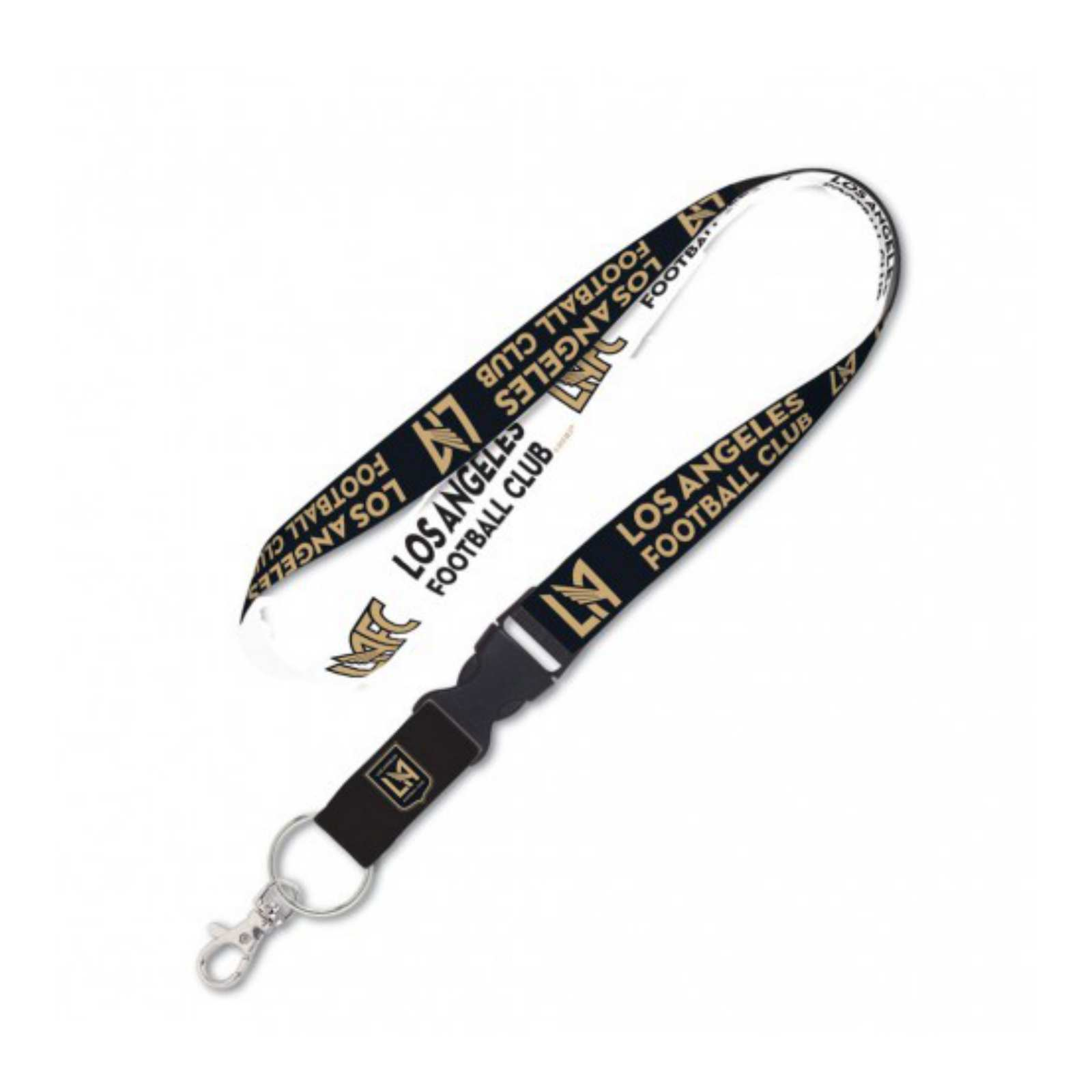 Los Angeles FC WinCraft Black & White Two-Toned Durable Buckle Lanyard