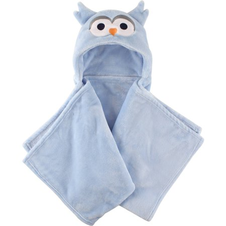 Hudson Baby Boy And Girl Animal Hooded Blanket Blue Owl