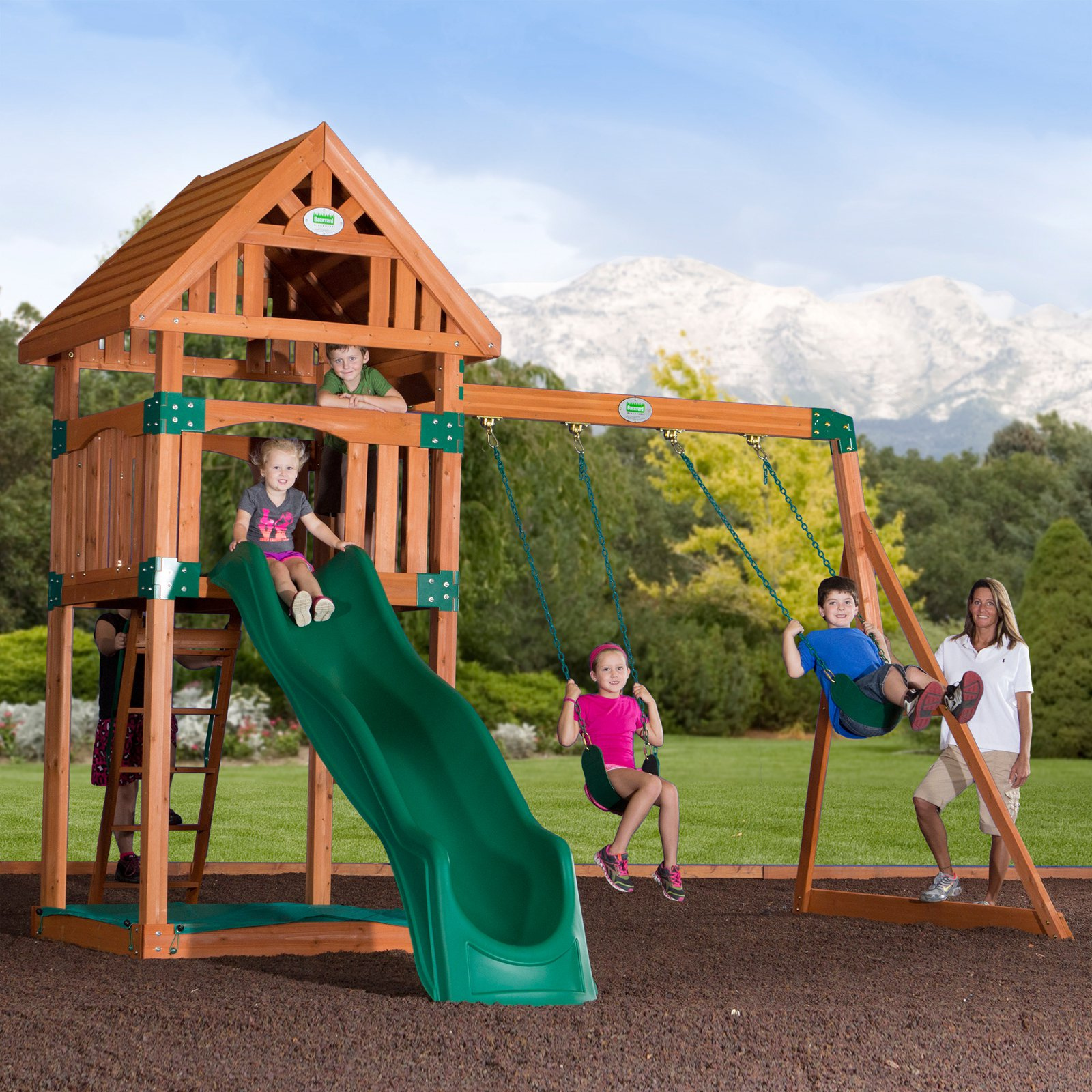 Backyard Odyssey Trek All Cedar Swingset