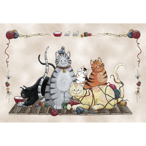Custom Printed Rugs Home Accents Granny's Cats Area Rug