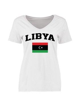 823b4c50238 Product Image Libya Women s Flag T-Shirt - White. Fanatics Branded