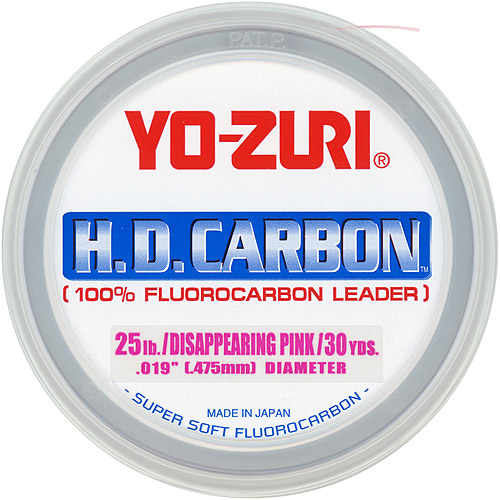 Yo-Zuri America H.D. Carbon Fluorocarbon Leader, 30 yds, Pink