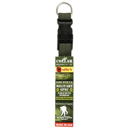 Westminster Pet Products 81015-2 Dog Collar, Green Military Spec, Medium - Quantity 1