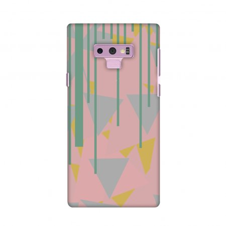 Samsung Galaxy Note9 Case, Premium Handcrafted Designer Hard Shell Snap On Case Shockproof Printed Back Cover for Samsung Galaxy Note9 - Vertical stripes cut- Pink and green Gilmour Snap Cut