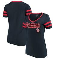 Product Image Women s New Era Navy St. Louis Cardinals Jersey V-Neck T-Shirt 8552f4315