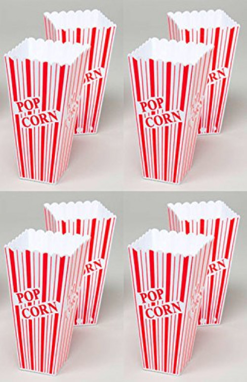 Set of 8 Popcorn Plastic Container Box Tub Bowl Presentation is Everything