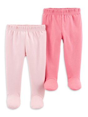 Child Of Mine By Carter's Footed pants, 2pk (Baby Girls)