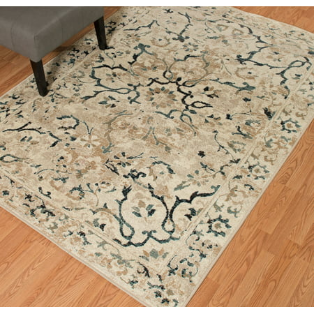 United Weavers Amarna Villa Bella Distressed Linen Woven Olefin Area Rug or Runner