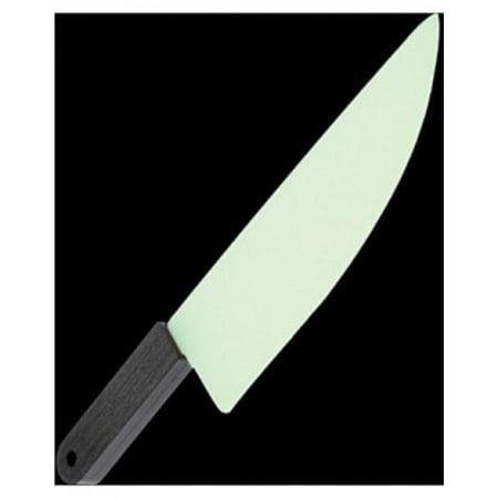 One Plastic Glow In The Dark Butcher Knife - 11.25